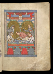 The Burial of Thomas Becket, In A Psalter